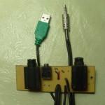 Plaqueta auxiliar con los conectores