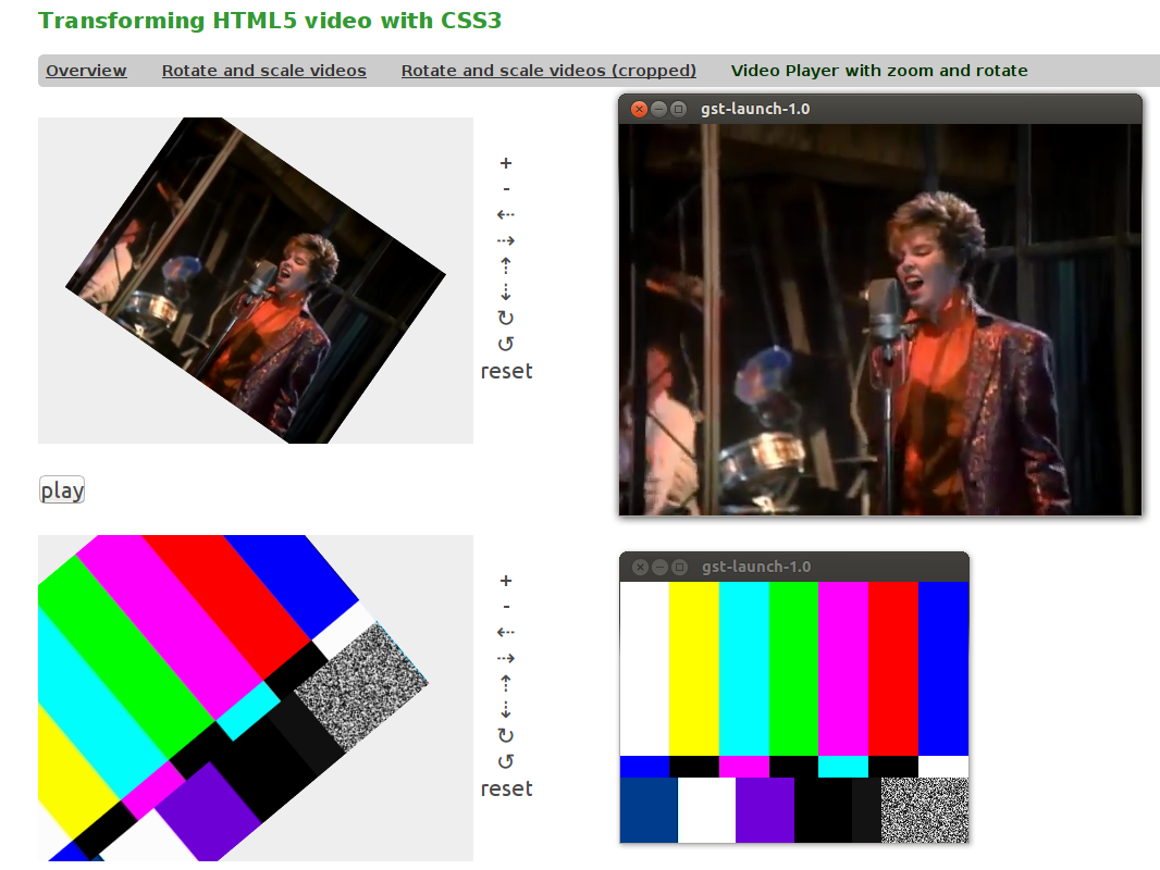 Using WebKit to display video from a GStreamer application.