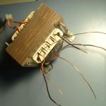 Transformador de lamparas dicroicas rebobinado para filamentos de valvulas. 6.3Vct, 12.6Vct, 5V, 2.5V. 500W total. Finalizado